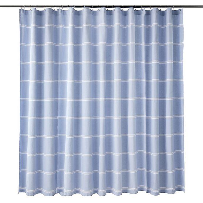 Alternate image 1 for Calvin Klein Eileen Shower Curtain in Blue/White
