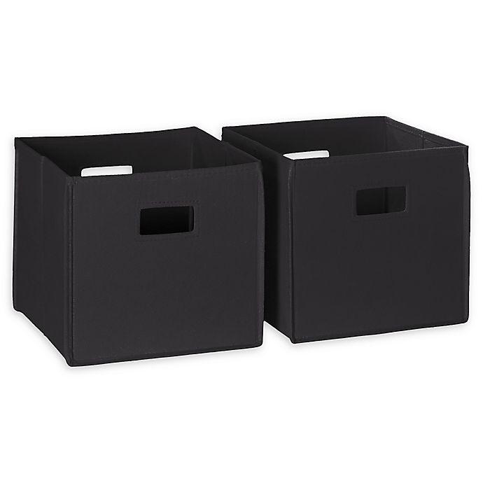 Alternate image 1 for RiveRidge Kids Folding Storage Bins in Black (Set of 2)