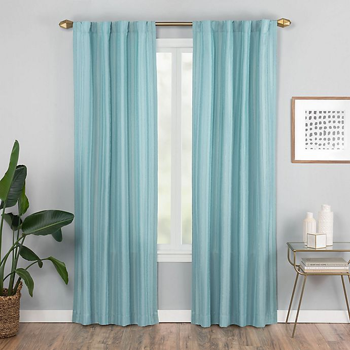 Alternate image 1 for Vaughan 84-Inch Rod Pocket/Back Tab Window Curtain Panel in Aqua