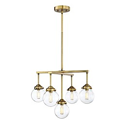Filament Design 5-Light Chandelier in Brass