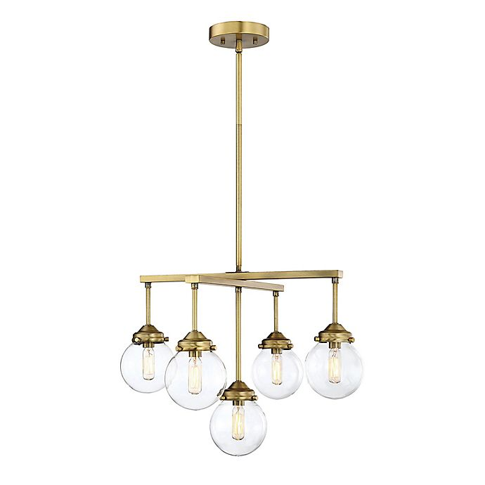 Alternate image 1 for Filament Design 5-Light Chandelier in Brass
