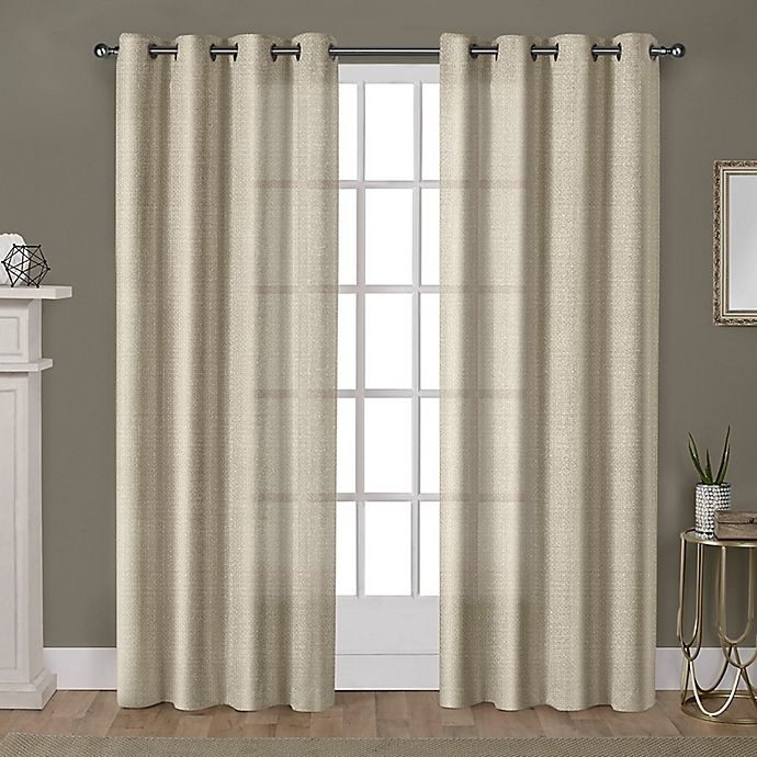 Alternate image 1 for Winfield 96-Inch Grommet Light-Filtering Window Curtain Panel Pair in Gold