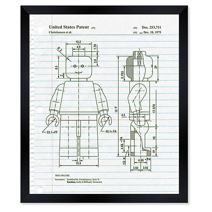 Alternate image 1 for Oliver Gal™ Lets Go Notebook Blueprint Paper Framed Print in White