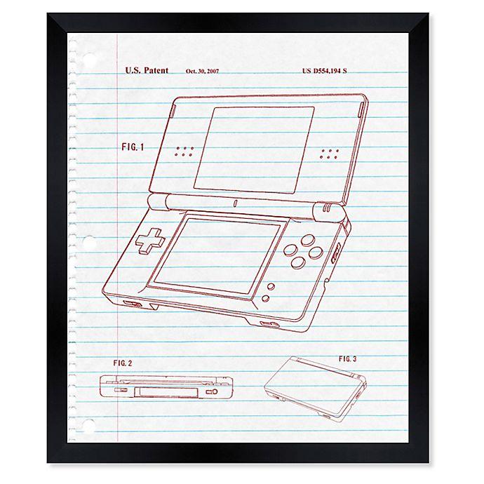 Alternate image 1 for Oliver Gal™ Newest Tech Notebook Blueprint Paper Framed Print in White