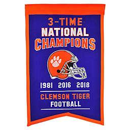 Clemson University 2019 Football National Champions Banner in Purple