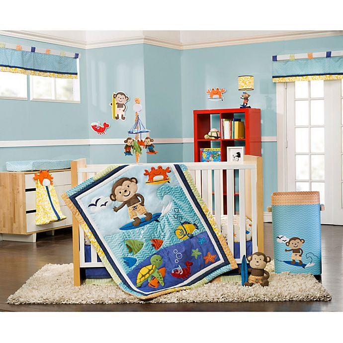Alternate image 1 for Carter's® Laguna Monkey 4-Piece Crib Bedding Set