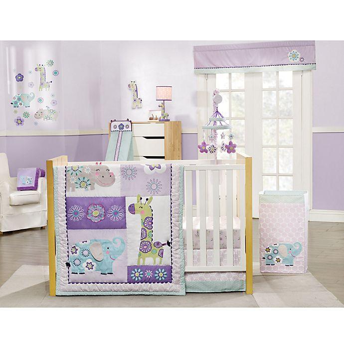 Alternate image 1 for carter's® Zoo Collection 4-Piece Crib Bedding Set