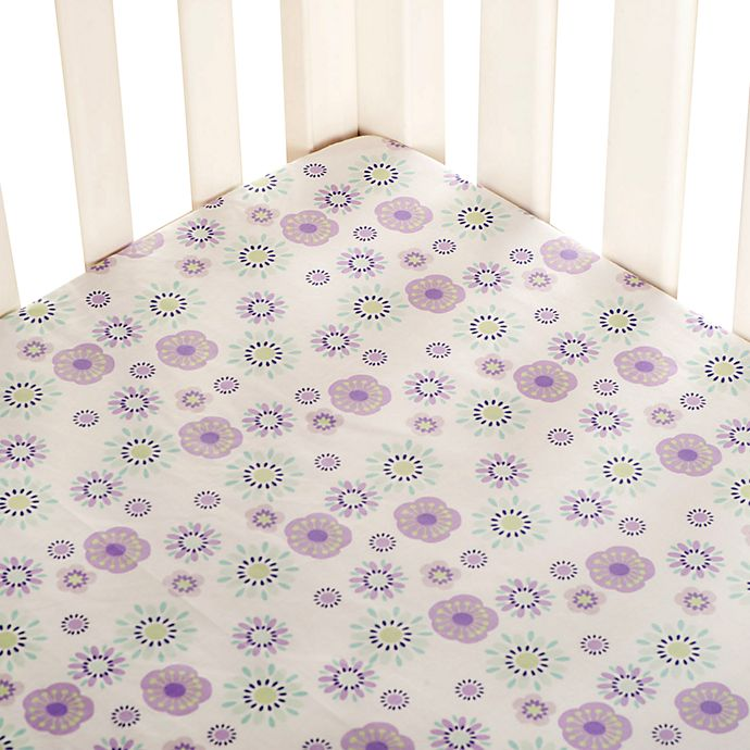 Alternate image 1 for carter's® Zoo Collection Fitted Crib Sheet