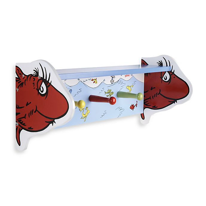 Alternate image 1 for Dr. Seuss™ by Trend Lab® One Fish Two Fish Shelf with Peg Hooks