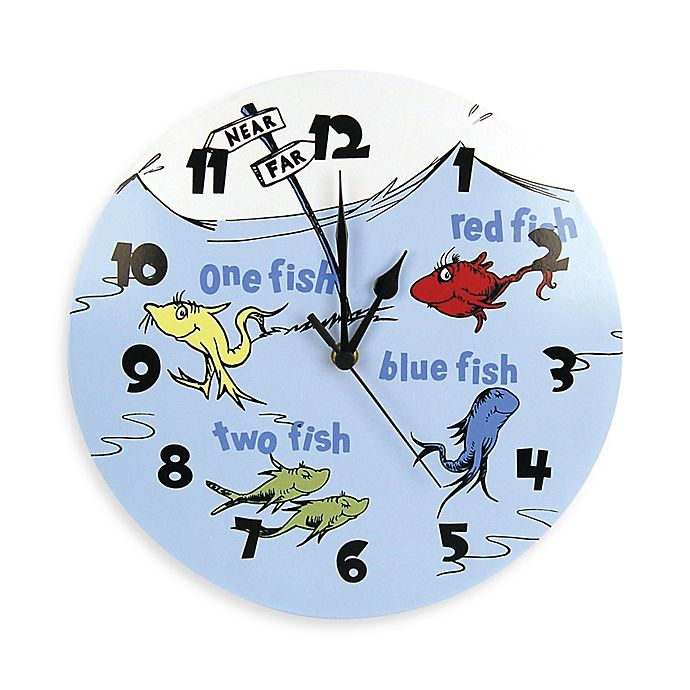 Alternate image 1 for Dr. Seuss™ by Trend Lab® One Fish Two Fish Wall Clock