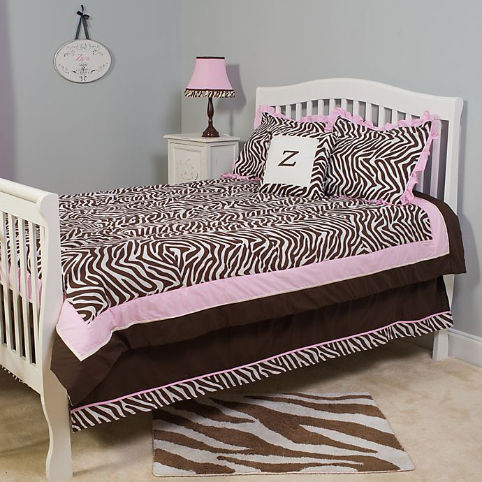 Alternate image 1 for Pam Grace Creations Zara Zebra 4-Piece Comforter Set