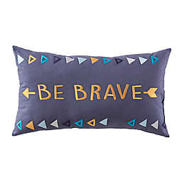 "Pendleton® ""Be Brave"" Throw Pillow in Charcoal"