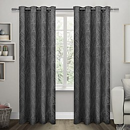 Twig Grommet Room Darkening Window Curtain Panel Pair