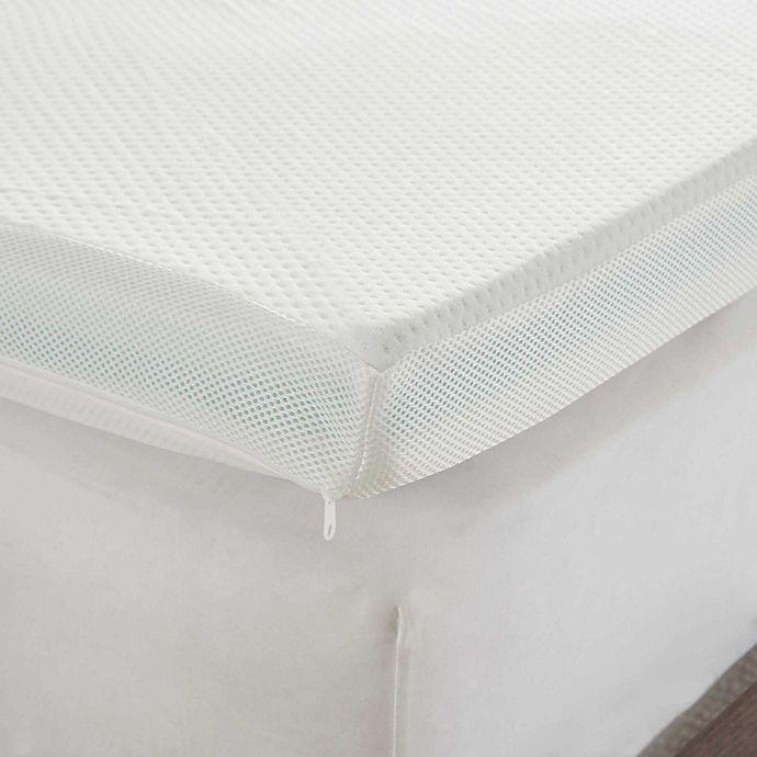 Alternate image 1 for Sleep Philosophy Flexapedic 3-Inch Gel Memory Foam Mattress Topper in White