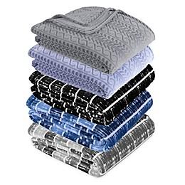 Berkshire Blanket® VelvetLoft® City Stripe Throw Blanket