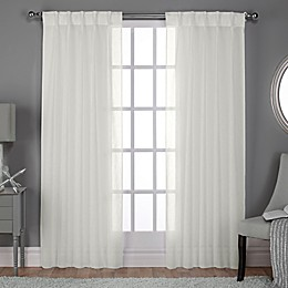 Belgian Pinch Pleat Back Tab Window Curtain Panel Pair