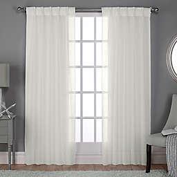 Belgian Pinch Pleat Back Tab Window Curtain Panels (Set of 2)