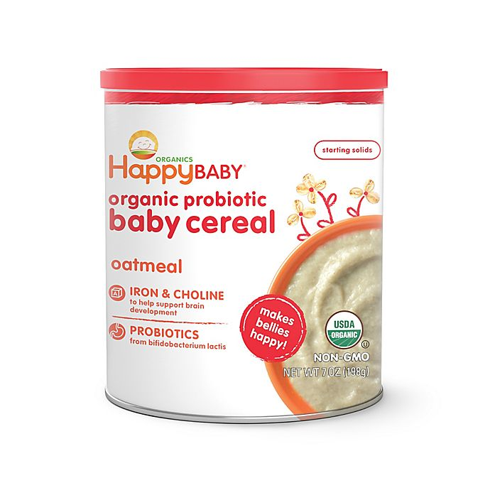 Alternate image 1 for Happy Baby™ Happy Bellies™ Organic Baby Cereal with DHA + Pre & Probiotics in Oatmeal