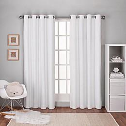 Textured Linen Grommet Top Window Curtain Panel Pair