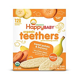 Happy Baby™ Gentle Teethers 12-Packs of 2 Banana & Sweet Potato Organic Teething Wafers