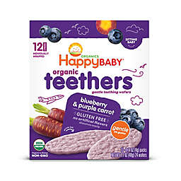 Happy Baby™ Gentle Teethers 12-Packs of 2 Blueberry & Purple Carrot Organic Teething Wafers