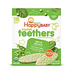 Happy Baby™ Gentle Teethers 12-Packs of 2 Pea & Spinach Organic Teething Wafers