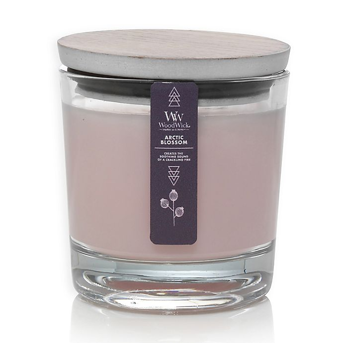 Alternate image 1 for WoodWick® Arctic Blossoms Medium Candle Jar