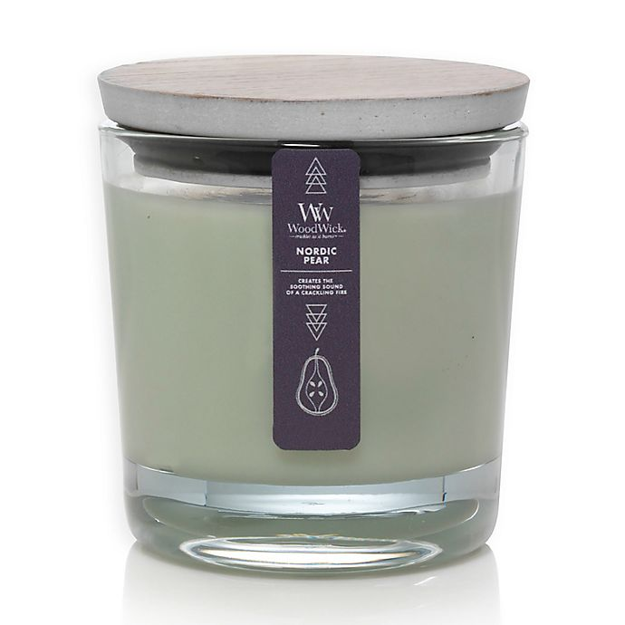 Alternate image 1 for WoodWick® Nordic Pear Medium Candle Jar