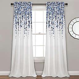 Weeping Flower Rod Pocket Window Curtain  (Set of 2)