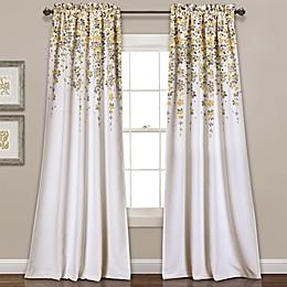 Weeping Flower Rod Pocket Window Curtain Panel Pair