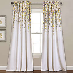 Weeping Flower 2-Pack95-Inch Rod Pocket Window Curtain in Yellow (Set of 2)