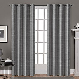 Whitby Grommet Top Window Curtain Panel Pair