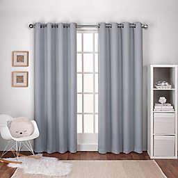 Textured Woven 84-Inch Grommet Top Window Curtain in Dove Grey (Set of 2)