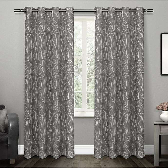 Alternate image 1 for Oakdale 2-Pack Grommet Top Window Curtain