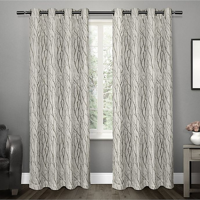 Alternate image 1 for Oakdale 84-Inch Grommet Top Window Curtain Panel Pair in Dove Grey