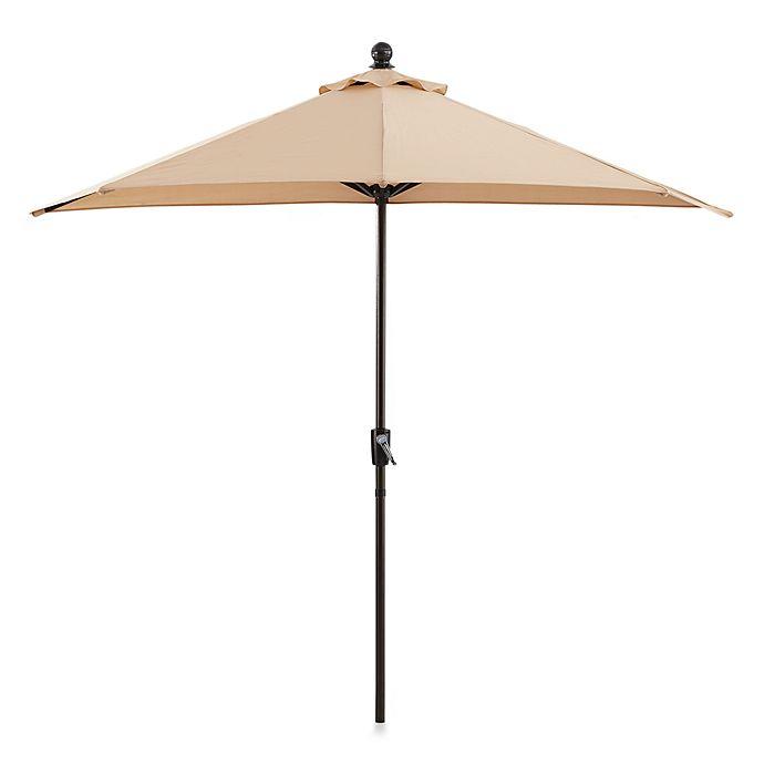Alternate image 1 for 9-Foot Half Round Aluminum Umbrella in Natural
