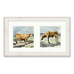 Bee & Willow™ Home Cows 17-Inch x 29-Inch Framed Diptych Wall Art