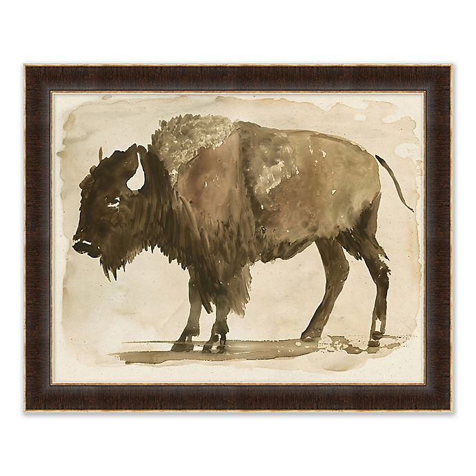 Alternate image 1 for Buffalo 26-Inch x 32-Inch Paper Framed Print
