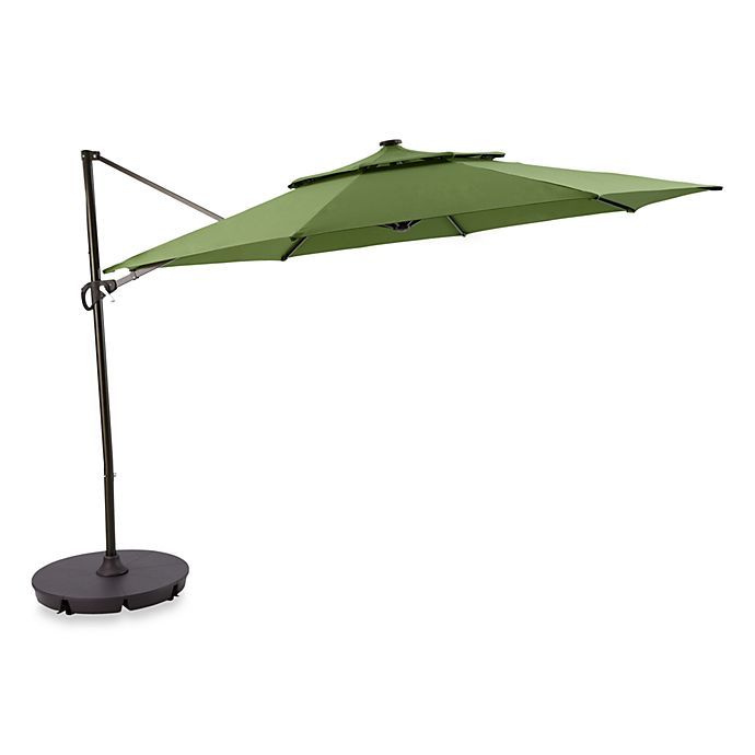 11 Foot Round Solar Cantilever Umbrella Bed Bath Beyond