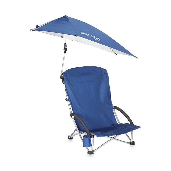 Sport-Brella™ Beach Chair with Canopy in Blue | Bed Bath ...
