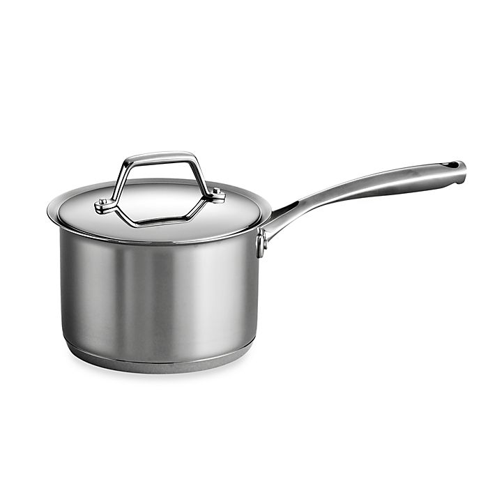 Alternate image 1 for Tramontina® Gourmet Prima Stainless Steel Covered 2-Quart Saucepan