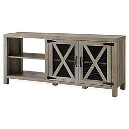 Forest Gate™ Englewood 58-Inch Mesh Door TV Stand in Grey Wash