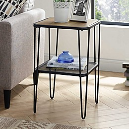 Forest Gate Urban Industrial Side Table with Hairpin Legs
