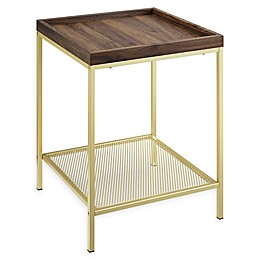 Forest Gate Industrial Tray Top Side Table