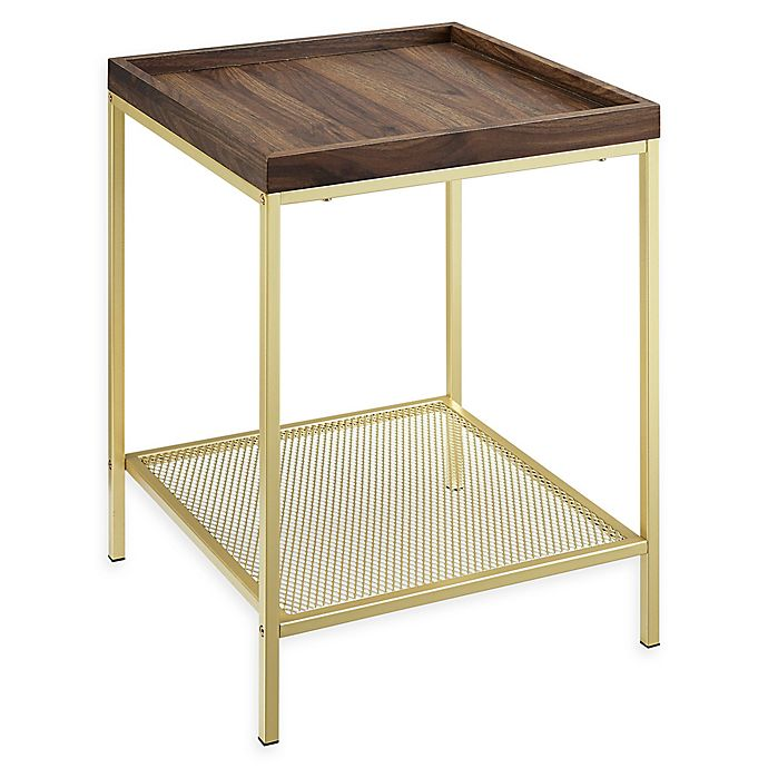 Forest Gate Industrial Square End Table Bed Bath Beyond