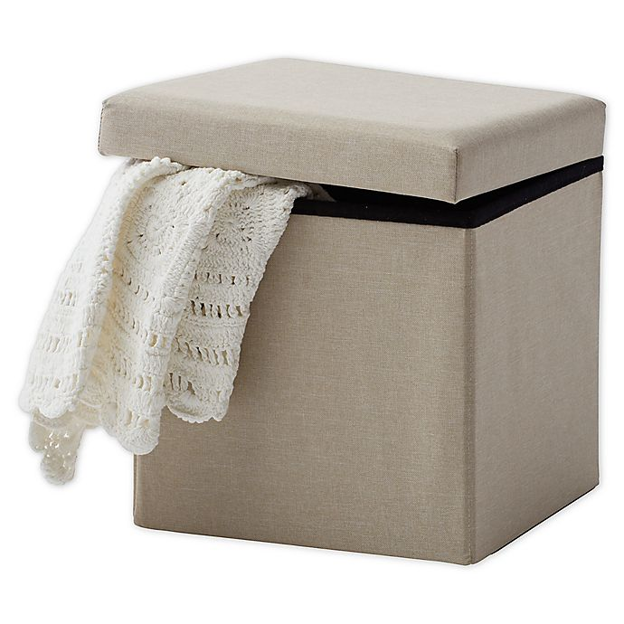 Alternate image 1 for Bee & Willow Home™ Linen Upholstered Ottoman in Taupe