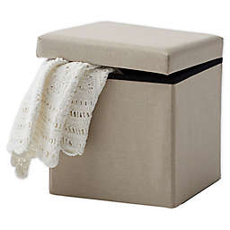 Bee & Willow Home™ Linen Upholstered Ottoman in Taupe