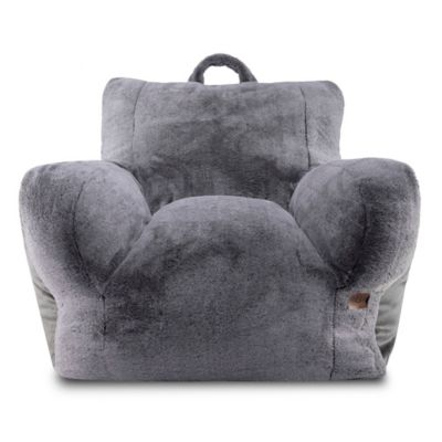 Ugg 174 Cascade Faux Fur Upholstered Lounge Chair In Charcoal