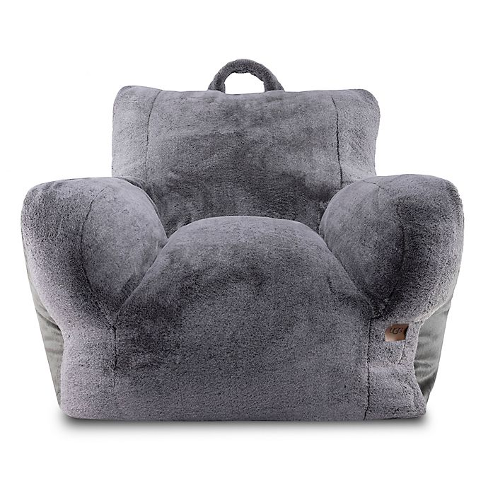 Stupendous Ugg Cascade Faux Fur Upholstered Lounge Chair In Charcoal Machost Co Dining Chair Design Ideas Machostcouk