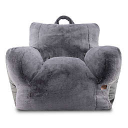 UGG® Cascade Faux Fur Upholstered Lounge Chair in Charcoal